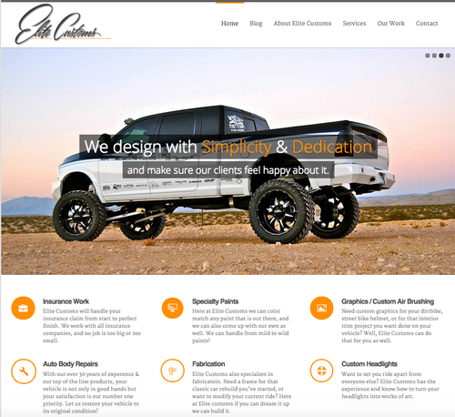 Elite Customs - Website