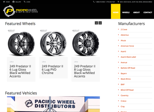 Pacific Wheel - Website